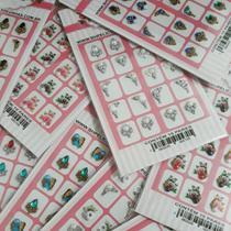 5 cartelas com 10 pares ( cada cartela) de pedrarias para unhas - Bh Peliculas