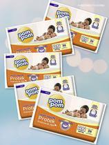 5 fraldas Pompom - Tamanho RN (180 fraldas) - Pom Pom