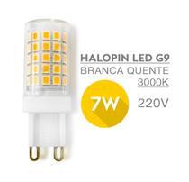 5 Lâmpadas Halopin LED G9 7W 220V Luz Branca Quente/3000K - P/Lustres Luminárias e Arandelas - Top Light
