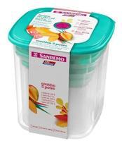 5 Potes Mantimentos Sanremo 5 Peças Vac-freezer -