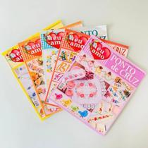5 Revistas Ponto De Cruz Bordados Modernos -