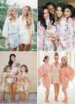 5 Robes Noiva Seda Noiva Tendencia Luxuoso Estampado Florido - Club farm