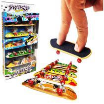 5 Skate De Dedo Fingerboard Sk8 Truck Metal - Com Lixa - Jihe