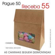 50 Caixas Caixinhas de Papel Kraft p/ Suspiros, Mini Ovos de Páscoa - Lembrancinhas CX028 K - Roah