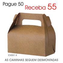 50 Caixas Caixinhas de Papel Kraft p/ Suspiros, Mini Ovos de Páscoa - Lembrancinhas CX031 K - Roah