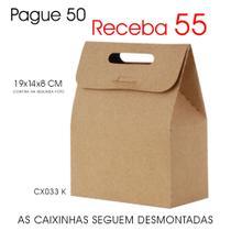 50 Caixas Caixinhas de Papel Kraft p/ Suspiros, Mini Ovos de Páscoa - Lembrancinhas CX033 K - Roah