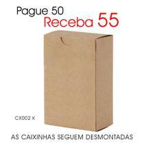 50 Caixas Caixinhas de Papel Kraft para Lembrancinhas CX002 K - Roah