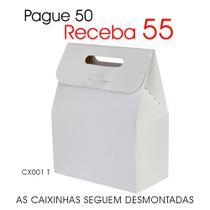 50 Caixas Caixinhas de Papel Mod. Sacolinha p/ Mini Suspiros Chocolates Mini Ovos de Páscoa CX001 T - Roah