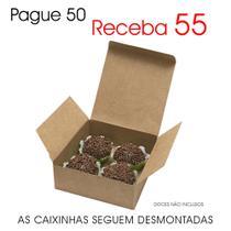 50 Caixas Caixinhas Papel Kraft P/ Brigadeiro Chocolate Páscoa CX019 K - Roah