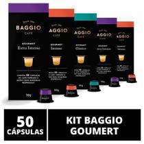 50 Cápsulas Para Cafeteira Nespresso  Baggio Café Gourmet  5 caixas -