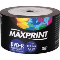 50 dvd-r maxprint logo 4.7 gb 120 minutos 16x original -