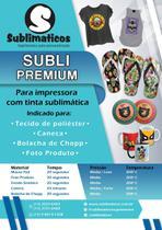 50 Fls Papel Azul A3 Para Sublimático - Premium
