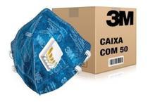 50 Máscaras com Válvula 3M 9822BR para proteção respiratória - CA 41.515 - PFF2 - 3M Do Brasil