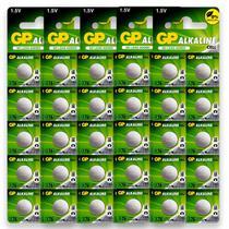 50 Pilhas GP SUPER LR44 A76 AG13 Bateria Alcalina 5 cartelas - GP BATTERIES