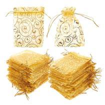 50 Unidades Saquinhos Dourados Para Presentes Lembrancinhas Festas - Neoimp
