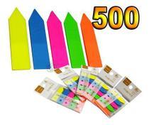 500 Adesivo Marcador Fichário Colorido Página Lembrete Post - Frog
