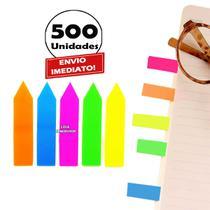 500 Adesivo Marcador Fichário Colorido Página Lembrete Post - Spmix
