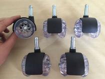 (5pçs) Rodizio Roda 50mm Gel Silicone Anti Risco Pino 10mm Bucha 1/2'' (13mm) Para Cadeiras E Móveis - Abcmaior