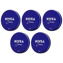5x Creme hidratante nivea multibenefícios promove cuidado especial para pele ressecada e rugas 56g -