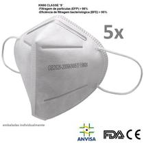 5x Mascara Proteçao kN95 classe S Com Registro ANVISA 81991180003 Laudo BFE 95% FDA CA - W.Tiexiong