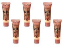 6 Base de Maquiagem Ruby Rose Soft Matte Bege n 4 29ml -