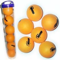 6 Bolinhas Laranja de Ping Pong Tênis de Mesa com Estojo - Monaliza