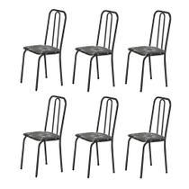 6 Cadeiras Para Cozinha Sem A Mesa de Ferro 234 PFP 4 6 Com - Marcheli