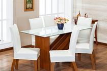 6 Capas Para Cadeira Jantar Com Elástico Malha Gel Lisa Branca - Enxovaisbaratão