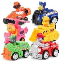 6 Carrinhos Patrulha Canina Brinquedo carrinho fricção criança - Dogs Patrol