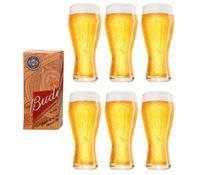 6 Copos Budweiser de 400ml - Embalagem Individual - Ambev