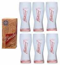 6 Copos De Cerveja Budweiser 400ml - Caixa Individual - Ambev