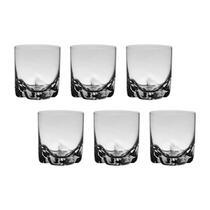 6 Copos De Cristal Para Whisky 280 ml Linha Trio Bohemia Cristal -