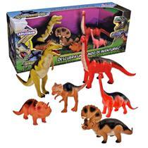 6 Dinossauros Coleção Evolução - Adijomar Brinquedos -