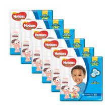6 Fraldas Infantil Descartável  MONICA HUGGIES Tripla Proteção JUMBO XXG 22unid. -