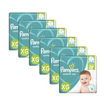6 Fraldas Infantil Descartável  Pampers Confort Sec Xg 18unid. -