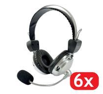 6 Headset Super Bass Fone De Ouvido Com Microfone F-301 - Plugx