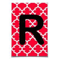 6 Letras Para Faixa decorativa R Vermelho Decoração Festas - Cromus