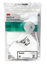 6 Máscaras de Proteção Respiratória Respirador PFF-2 (S) para Riscos Biológicos 3M - 9920H -