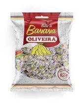 6 Pacotes De Bala De Banana Oliveira 600gr - Tradicional -