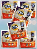6 pacotes de Fraldas Pompom- Tamanho  G (156  fraldas) -