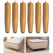 6 pes altos para camas box solteiro  20 cm de altura - Rodrim
