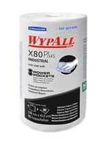 6 Rolos com 80 Panos  Wiper Wypall X80 Plus Kimberly Clark -
