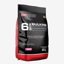 6 Six Bulking Gainers Protein 6kg Morango  Bodybuilders -