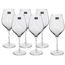 6 Taças de Vinho Bordeaux em Cristal Titanium 540ml Bohemia -