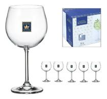 6 Taças Gin Tônica 6 Peças 570ml Bohemia Crystalite -