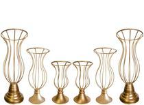 6 Vasos armação Kit Para Pedrarias Jarros Aramados Decoração Festas e Casamentos - Costa&Silva Decorações