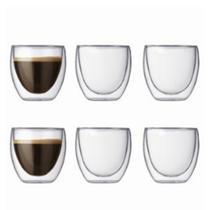 6 Xícara De Café Em Vidro Dupla Camada Borosilicato Copo - Mimo