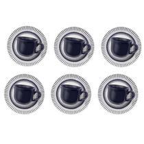 6 Xícaras De Café Com Pires 75ml Colb Am22-1645 Biona -
