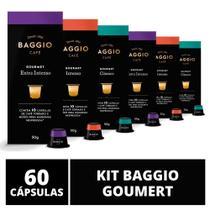 60 Cápsulas Para Cafeteira Nespresso  Baggio Café Gourmet  6 caixas -