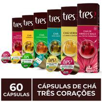60 Cápsulas Três Corações, Chá -